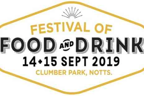 Festival of Food and Drink - Two day tickets from 14th To 15th September - Save 25%