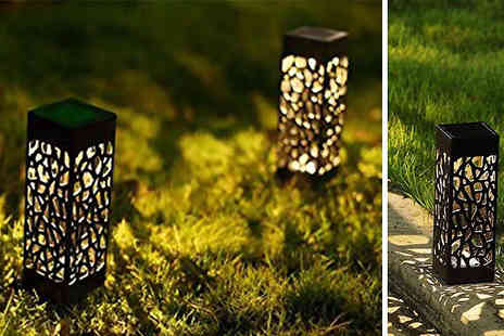 Fantasy Supply - Carved Rattan Effect Solar Powered Garden Lights - Save 70%
