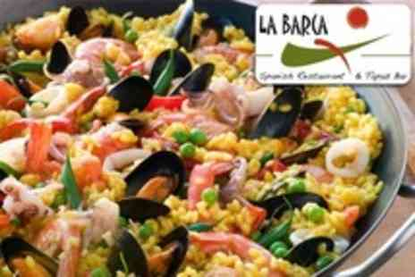 La Barca Restaurant - Spanish Tapas Meal For Two or Four With Sangria - Save 62%
