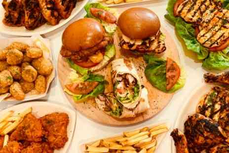 Riot Chicken - Burger, Fries and Milkshake Meal for Up to Four - Save 32%