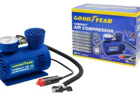 Groupon Goods Global GmbH - One or Two Goodyear 12V Compact Car Tyre Air Compressors - Save 0%