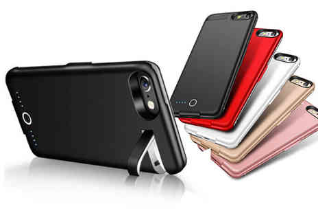 Litnfleek - iPhone battery charging case choose from five colours  - Save 68%
