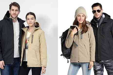 EClife Style - Men & Womens USB Heated Jacket Choose from 8 Colours & 6 Sizes - Save 68%