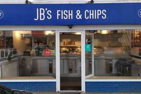JBs Fish and Chips - Fish and Chips or Burger with Sides and Drink for Two or Four - Save 29%
