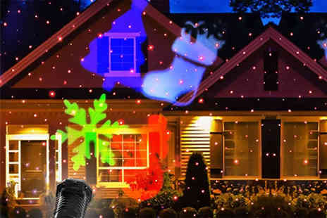 Groundlevel - Outdoor Led laser projector watch it dance across your house - Save 84%