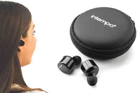 Groupon Goods Global GmbH - Intempo EE2558BLKSTK Wireless Bluetooth Earphones - Save 0%