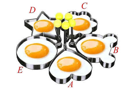 EClife Style - Stainless Steel Cute Fried Egg Molds Choose from 5 Designs - Save 70%