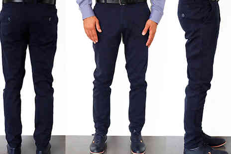 Nielsen & Christensen APS - Nielsen & Christensen Mens Super Stretch Chinos Choose from 3 Colours & 6 Sizes - Save 78%
