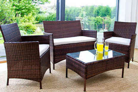 Dining Tables - Four Piece Rattan Garden Set - Save 85%