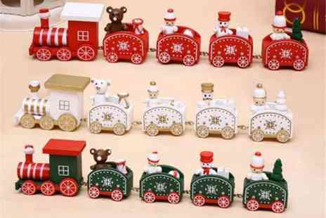 YelloGoods - Four carriage wooden toy train - Save 0%