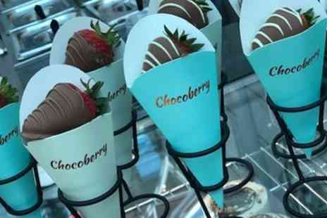 Chocoberry Cafe - Chocolate Dipped Strawberries or Waffle Bites with Milkshake for One or Two - Save 40%
