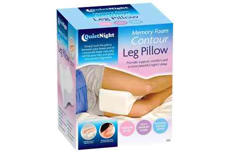 Groupon Goods Global GmbH - One or Two Quiet Night Contour Memory Foam Leg Support Pillows - Save 0%