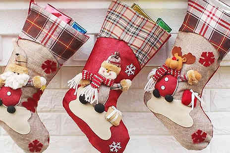 EClife-Style - Set of 3 Christmas Stocking Hanging Decorations - Save 40%