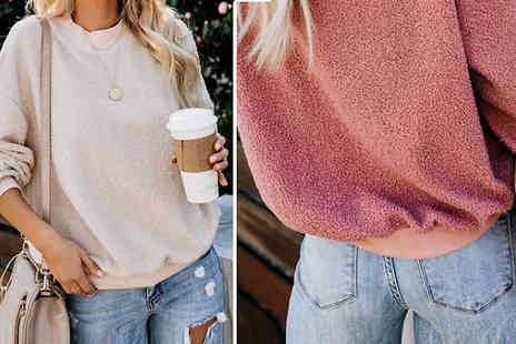 hey4beauty - Womens Winter Pullover Jumper Choose from 7 Colours - Save 68%