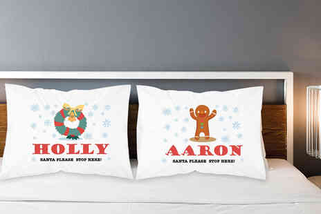 Personalised Gifts Market - Childrens personalised Christmas novelty pillowcase - Save 70%
