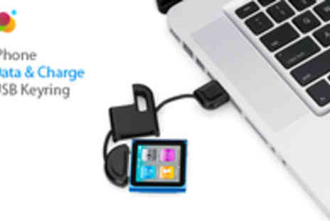 Smartass - iPhone Charger and Data Cable in a USB Keyring - Save 93%