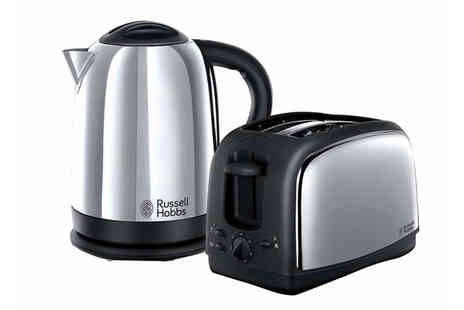 Smart Retail Goods - Russell Hobbs 21830 Lincoln polished stainless steel kettle and two slice toaster set - Save 60%