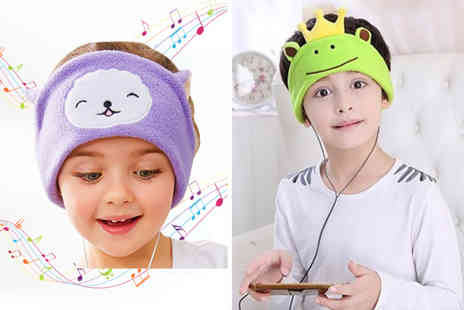 Wow What Who - Childrens cartoon soft fleece headphones headband choose from six fun styles - Save 70%
