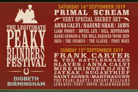 The Legitimate Peaky Blinders Festival - One general admission day ticket from 14th To 15th September - Save 55%