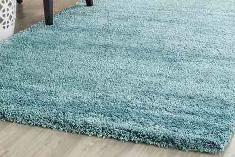 Groupon Goods Global GmbH - Fashion Thick Non Shedding Shaggy Rug in Choice of Size and Colour - Save 0%