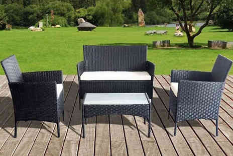 Direct2Public - Four seat outdoor rattan furniture set - Save 79%