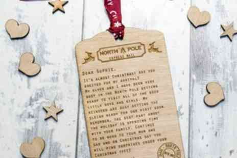 Personalised Gift Market - Up to Four Personalised Letters from Santa - Save 81%