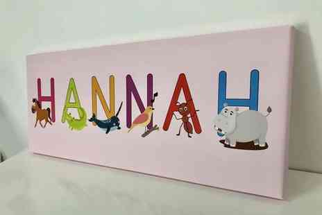 Deco Matters - Personalised kids letter name canvas - Save 84%