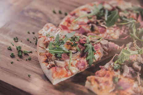 WOLF street food - Two pizzas, two soft drinks and a dessert for two people - Save 49%