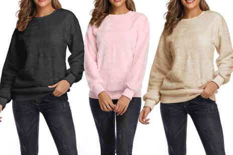 Spezzeee - Womens fluffy long sleeve jumper - Save 56%