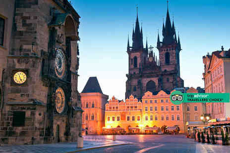 Travel Center - Four Star Two nights boutique Prague stay with breakfast and return flights - Save 39%