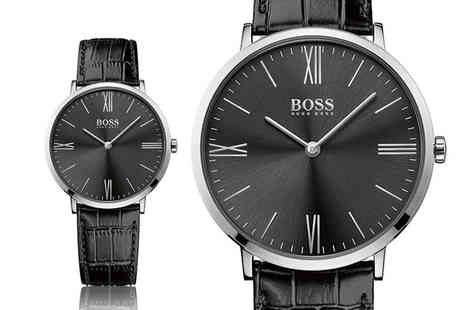 Brand Arena - Mens Hugo Boss mens black leather watch - Save 56%