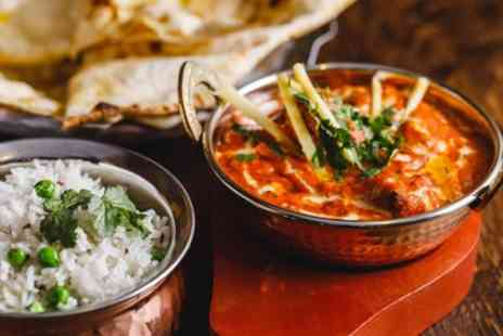 Smokey Barrels - Curry Meal with Rice, Nann and Glass of Wine for Two or Four - Save 44%