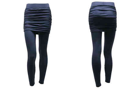 EClife Style - 2 in 1 Style Skirted Leggings Choose from 3 Colours - Save 77%