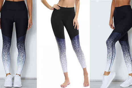 MBLogic - Gradient Fitness Leggings Choose from 3 Colours & 3 Sizes - Save 65%