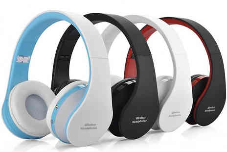 MBLogic - NX8252 Foldable Bluetooth Wireless Headphones Choose from 4 Colours - Save 67%