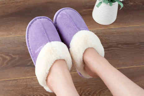 Wow What Who - Pair of womens indoor warm slippers - Save 60%