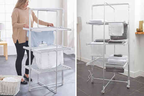Easylife - Three tier electric heated clothes airer - Save 53%