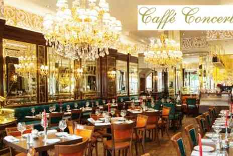 Caffe Concerto - Traditional or Sparkling Afternoon Tea for Two or Four - Save 44%