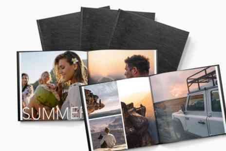 Printerpix - Up to Three Personalised Leather Photobooks in Choice of Size - Save 78%