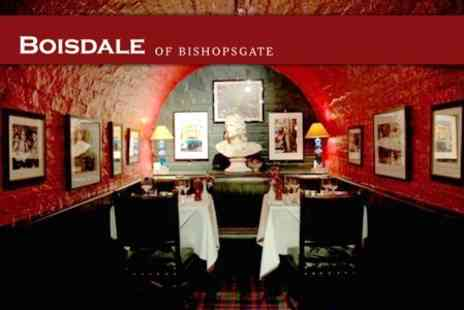 Boisdale of Bishopsgate - Two Course Angus Steak or Whole Lobster Dinner For One People - Save 51%