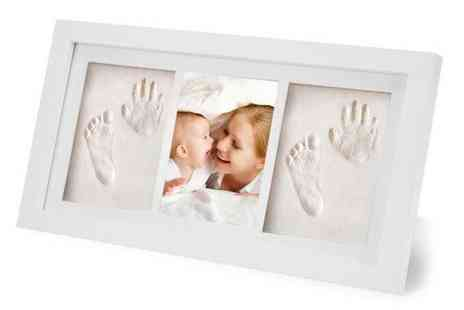Wish Imports - Baby hand and footprint photo frame kit - Save 76%