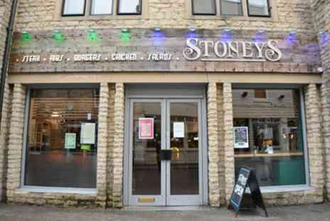 Stoneys - Choice of Burger with Fries for Up to Four - Save 37%