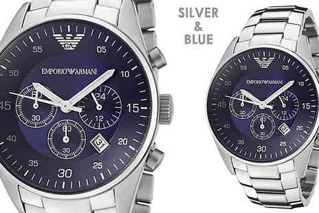 AW Watches - Emporio Armani Mens Chronograph Watch Choose from 2 Designs - Save 72%