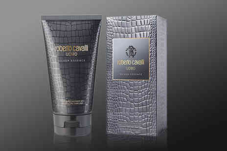 Demand Tic - Roberto Cavalli Uomo Silver Essence 150ml shower gel - Save 56%