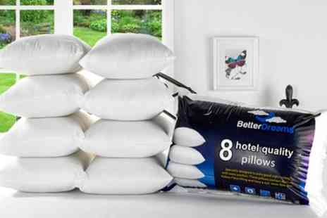 Groupon Goods - Better Dreams Eight Pack of Pillows - Save 76%