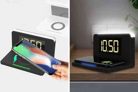 Litnfleek - 3 in 1 alarm clock, night light and wireless charger - Save 79%