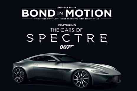Bond in Motion - One child, concession, adult or family ticket from 18th July To 8th September - Save 50%