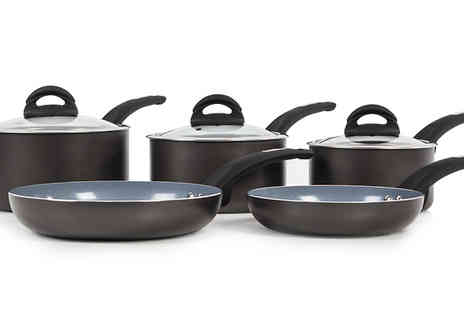 Love Home Brands - Tower Cerasure 5 Piece Graphite Pan Set - Save 42%