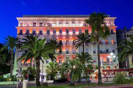 Hotel West End Nice - Four Star Historic Glamour on the Promenade des Anglais for two - Save 77%