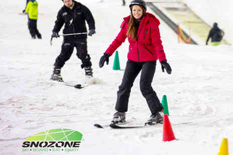 Snozone - Beginners junior ski or snowboarding lesson - Save 40%